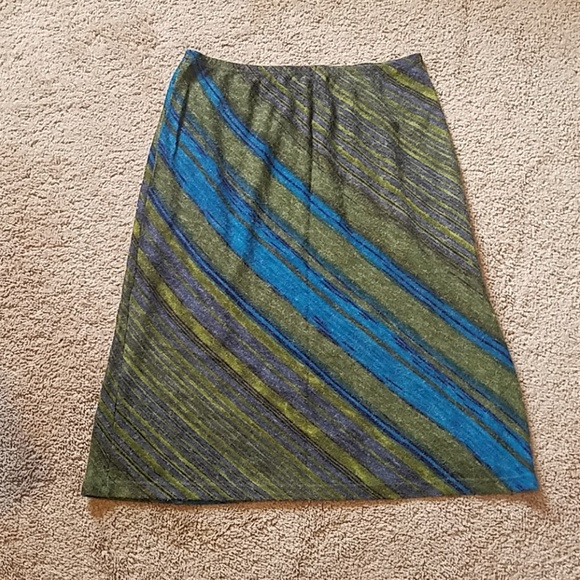 Wanted Dresses & Skirts - Medium Striped Blue Green Skirt